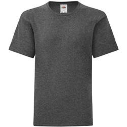 Textiel Jongens T-shirts korte mouwen Fruit Of The Loom Iconic Donker Heather