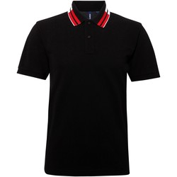 Textiel Heren Polo's korte mouwen Asquith & Fox Two Colour Zwart / Wit / Rood