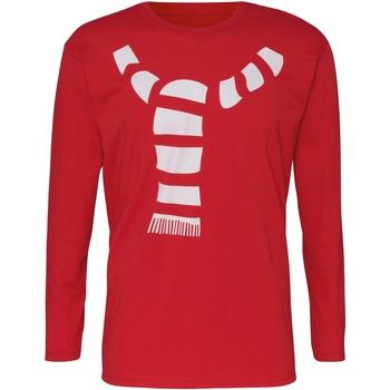 Textiel Heren T-shirts met lange mouwen Christmas Shop Christmas Rood