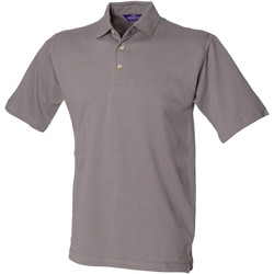 Textiel Heren Polo's korte mouwen Henbury HB100 Leisteengrijs