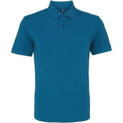 Textiel Heren Polo's korte mouwen Asquith & Fox AQ010 Teal Heather
