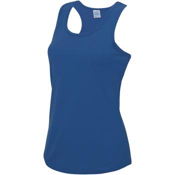 Textiel Dames Mouwloze tops Awdis Girlie Koningsblauw