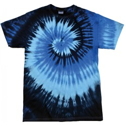 Textiel Dames T-shirts korte mouwen Colortone Rainbow Blauwe Oceaan