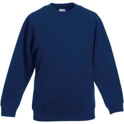 Textiel Kinderen Sweaters / Sweatshirts Fruit Of The Loom Raglan Marine
