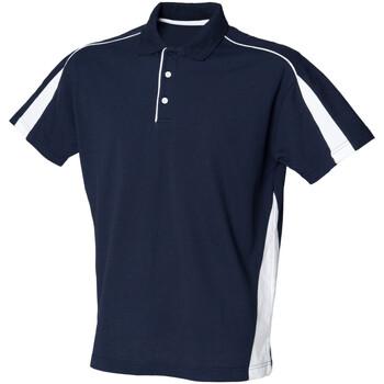Textiel Heren Polo's korte mouwen Finden & Hales LV390 Marine / Wit