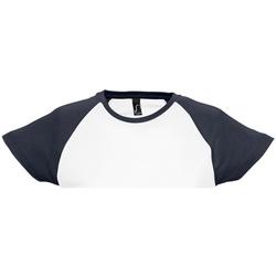 Textiel Dames T-shirts korte mouwen Sols Milky Wit/Zwaar