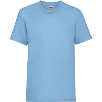 Textiel Kinderen T-shirts korte mouwen Fruit Of The Loom 61033 Hemel Blauw