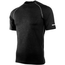 Textiel Heren T-shirts korte mouwen Rhino RH002 Zwarte Heide