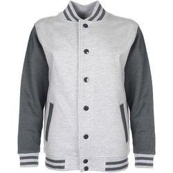 Textiel Kinderen Wind jackets Fdm Varsity Heide Grijs/Hartkolen