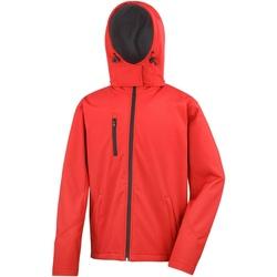Textiel Heren Wind jackets Result Hooded Rood/zwart