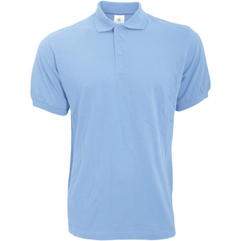Textiel Heren Polo's korte mouwen B And C Safran Hemel Blauw