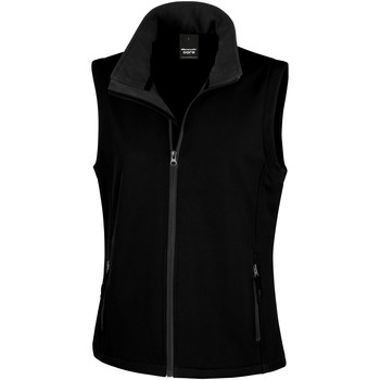 Textiel Dames Vesten / Cardigans Result Printable Zwart / Zwart