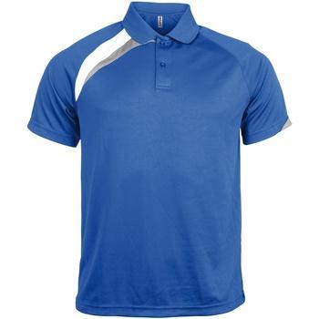 Textiel Heren Polo's korte mouwen Kariban Proact Proact Koningsblauw/wit/stormgrijs