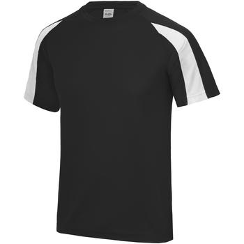 Textiel Kinderen T-shirts korte mouwen Just Cool Contrast Straal Zwart/Arctisch Wit