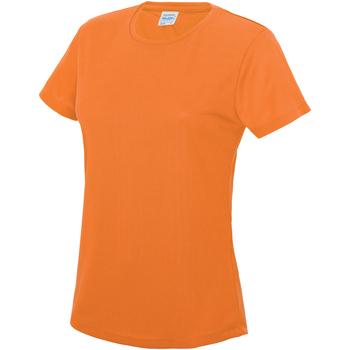 Textiel Dames T-shirts korte mouwen Just Cool JC005 Elektrisch Oranje