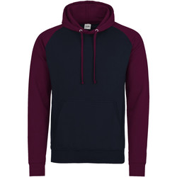 Textiel Heren Sweaters / Sweatshirts Awdis Hooded Marine Oxford/Burgondië