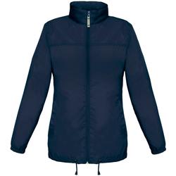 Textiel Dames Windjacken B And C Showerproof Marineblauw