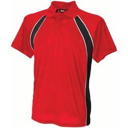 Textiel Heren Polo's korte mouwen Finden & Hales Jersey Rood/zwart/wit