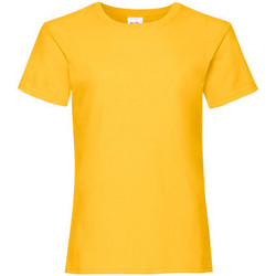 Textiel Meisjes T-shirts korte mouwen Fruit Of The Loom Valueweight Zonnebloem Geel