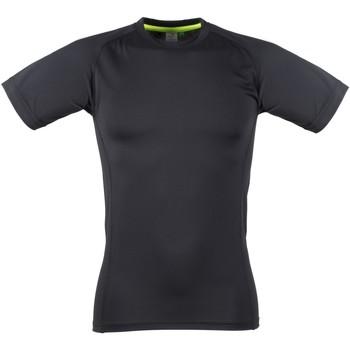 Textiel Heren T-shirts korte mouwen Tombo Teamsport Slim Fit Zwart / Zwart