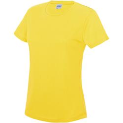 Textiel Dames T-shirts korte mouwen Just Cool JC005 Zonnegeel