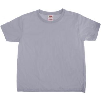 Textiel Kinderen T-shirts korte mouwen Fruit Of The Loom Sofspun Heather Grijs