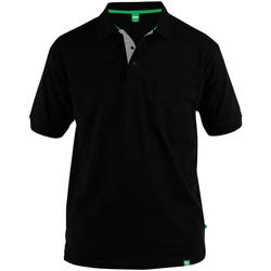Textiel Heren Polo's korte mouwen Duke Pique Zwart