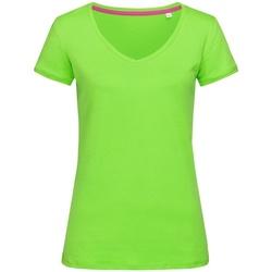 Textiel Dames T-shirts korte mouwen Stedman Stars Megan Groene Flash