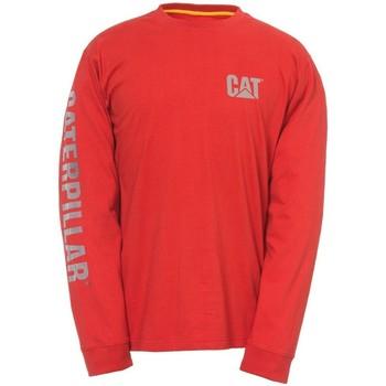 Textiel Heren T-shirts met lange mouwen Caterpillar  Rood