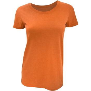Textiel Dames T-shirts korte mouwen Bella + Canvas Triblend Oranje Triblend