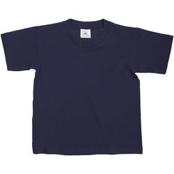 Textiel Kinderen T-shirts korte mouwen B And C Exact 150 Marineblauw