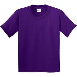 Textiel Kinderen T-shirts korte mouwen Gildan Soft Style Paars