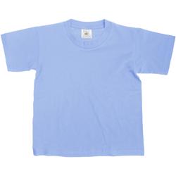 Textiel Kinderen T-shirts korte mouwen B And C TK300 Denim