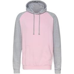 Textiel Heren Sweaters / Sweatshirts Awdis Hooded Babyroze/Heather Grey