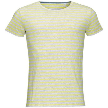Textiel Heren T-shirts korte mouwen Sols Striped As/Lemon
