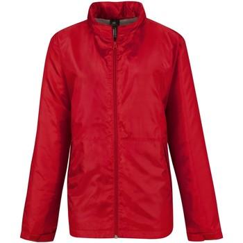 Textiel Dames Windjacken B And C Active Rood/ Warm Grijs