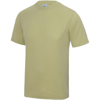 Textiel Heren T-shirts korte mouwen Just Cool Performance Woestijnzand
