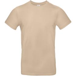 Textiel Heren T-shirts korte mouwen B And C E190 Zand