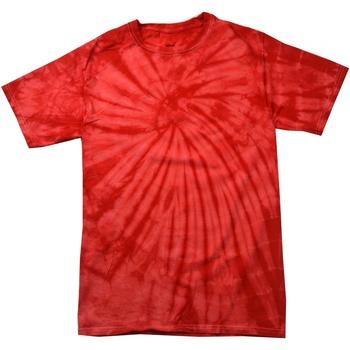 Textiel T-shirts korte mouwen Colortone Tonal Spin rood