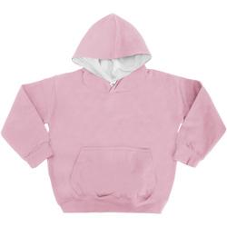 Textiel Kinderen Sweaters / Sweatshirts Awdis JH03J Baby Roze/Arctisch Wit