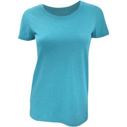 Textiel Dames T-shirts korte mouwen Bella + Canvas Triblend Aqua Triblend