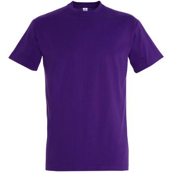 Textiel Heren T-shirts korte mouwen Sols Imperial Donkerpaars