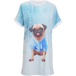 Textiel Dames Pyjama's / nachthemden Christmas Shop Christmas Lichtblauwe mopshond