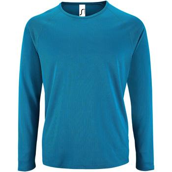 Textiel Heren T-shirts met lange mouwen Sols Performance Aqua