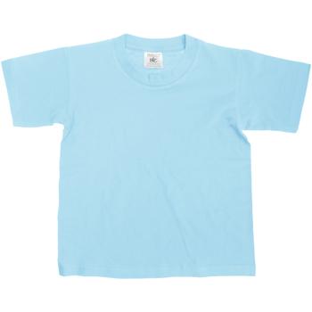 Textiel Kinderen T-shirts korte mouwen B And C Exact 150 Hemelsblauw
