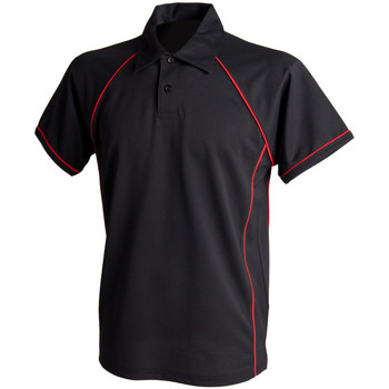 Textiel Heren Polo's korte mouwen Finden & Hales Piped Zwart/Rood
