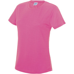 Textiel Dames T-shirts korte mouwen Just Cool JC005 Elektrisch Roze