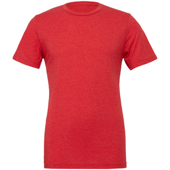 Textiel Heren T-shirts korte mouwen Bella + Canvas Triblend Rode Triblend