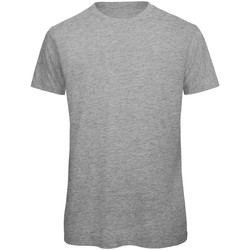 Textiel Heren T-shirts korte mouwen B And C Organic Sportgrijs