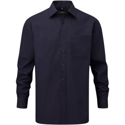 Textiel Heren Overhemden lange mouwen Russell 934M Franse marine